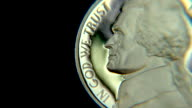 In God We Trust - close up Nickel coin video