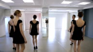 In model school females are walking up and down video