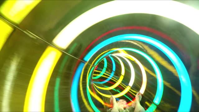 in rainbow slide at aquapark video