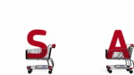 SALE in shopping carts video