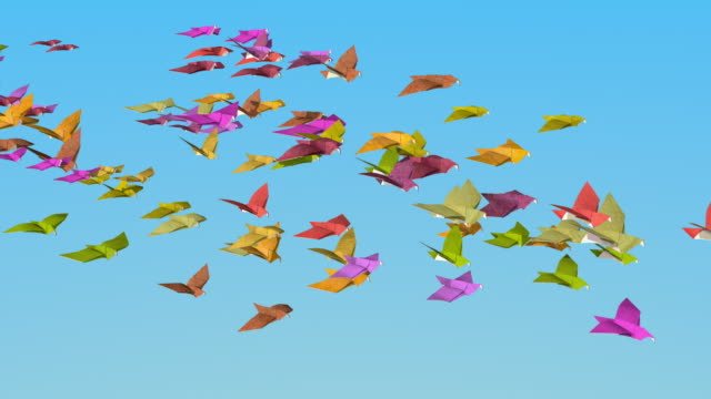 In the autumn of origami doves fly away video