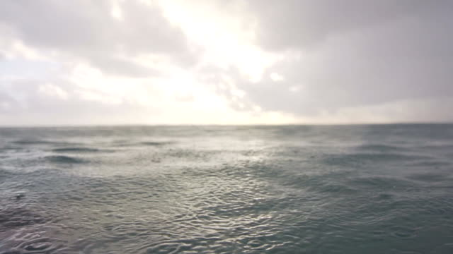 In the sea during a light rain video