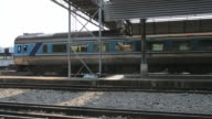 Incoming speed train at station video