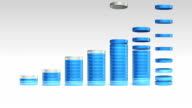 Increase economic graph. 3D circle Bar Chart 1.(included alpha) video