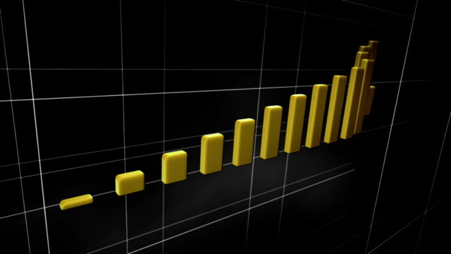 Increasing chart turning into stairs (yellow, black) - Loop video