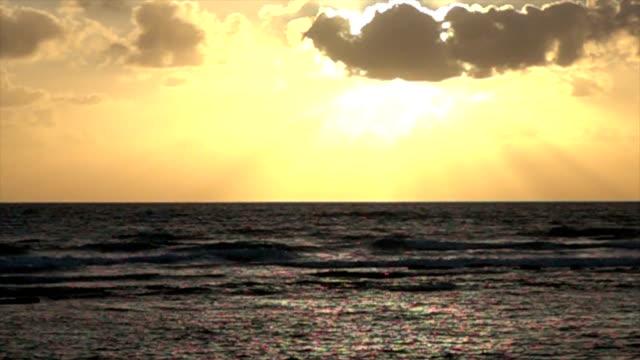 Incredible Sunset Over Mediterranean Sea video