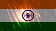 India Flag Loopable Animation video