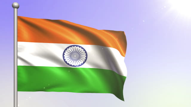 4K India Flag (Loopable) video