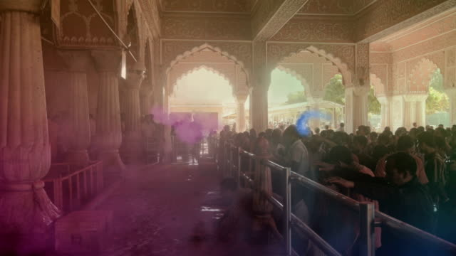 India Holi celebrations at a temple in Jaipur video