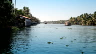 India. Houseboat on Kerala backwaters video