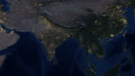 India Lights from space zoom video