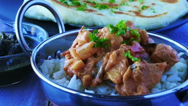 Indian butter chicken curry video
