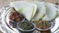 Indian food, Dosa with Sambar with Channa Masala video