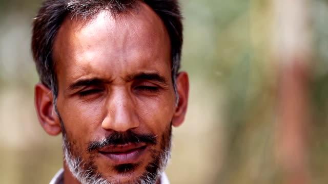 Indian men portrait video
