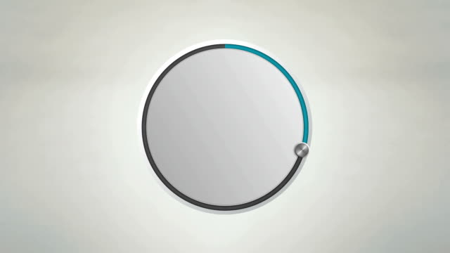 Indicate about 30 percents circle dial animation. video