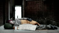 Individual in city homeless video
