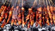 Indonesian Cuisine Chicken Satay video
