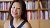 Indoor Portrait Of Asian Businesswoman Shot On R3D video