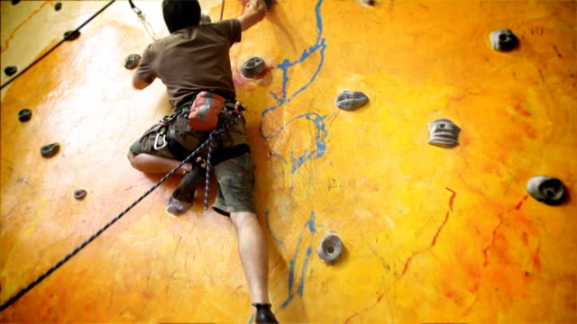 Indoor Rock Climber video