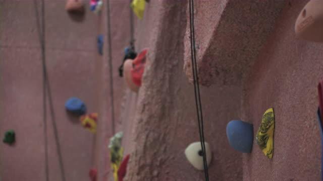 Indoor Rock climbing Wall 1 HD video