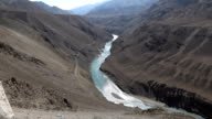 Indus river at Leh Ladakh, Northern India video