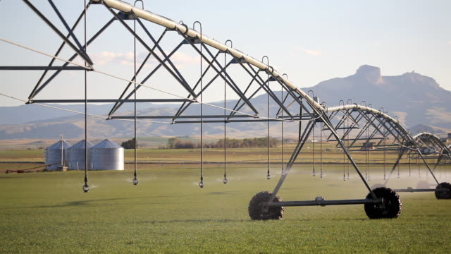 HD industrial agriculture irrigation system video
