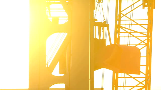 Industrial backgrounds – Crane on sunset video