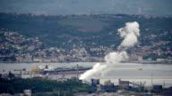 Industrial building polluting in Trieste video