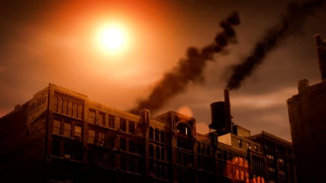 Industrial Building with Smoke (HD Loop) video