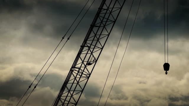 Industrial Crane On Cinematic Sky video