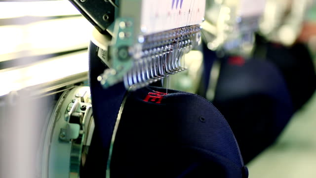 Industrial Embroidery Machine Embroidering Hat video