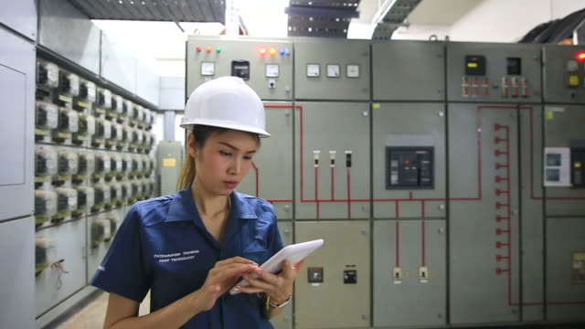 Industrial Engineer Writing Report by tablet pc. video