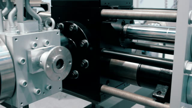 Industrial equipment for grinding the polymer and extrusion of plastic items video