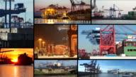 Industrial harbor in Hamburg video