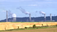 T/L Industrial Landscape With Coal-fired Power Station video