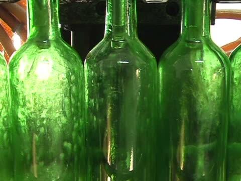 Industrial line for bottling wine video