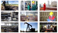 Industrial production collage video
