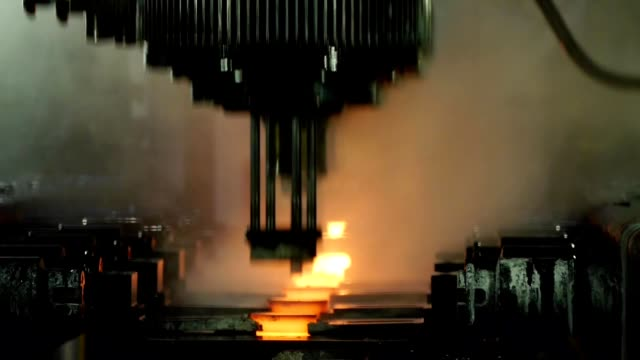 industrial production - hydraulic press video