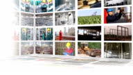Industrial production multiscreen video