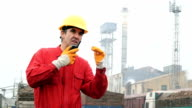 Industrial Scene - Factory Worker video
