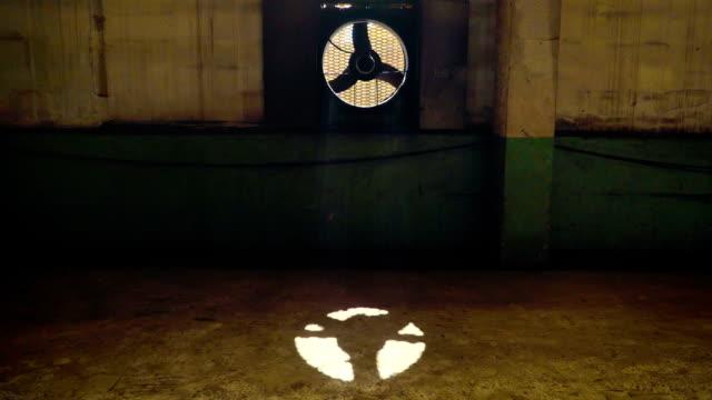Industrial Sized Ventilator Fans In An Underground Building video