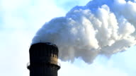 Industrial smokestack. video