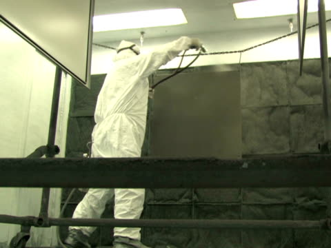 Industrial Spray Painting, Low Angle video