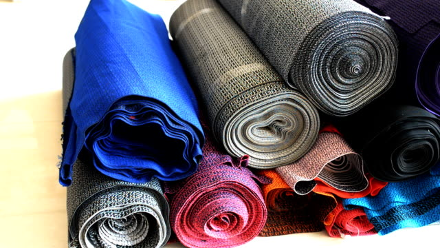 Industrial Textile Factory - Showroom. video