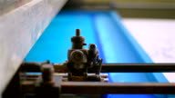 Industrial textile factory video