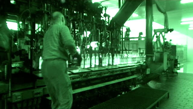 Industrial video - glass factory. Automated production line. video