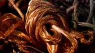 Industrial video - materials. Recycling or recovery. Scrap copper 5 video