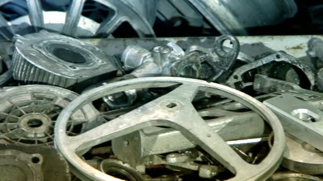 Industrial video - materials. Recycling or recovery. Scrap metal  17 video