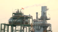 Industry Boiler at Oil Refinery Plant working video