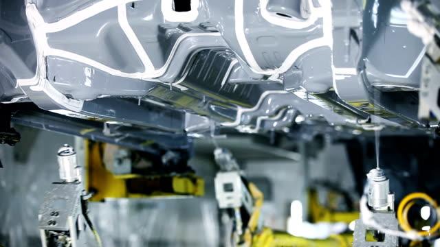 Industry robots,Assembling cars video